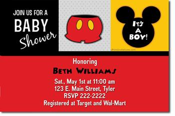 Mickey mouse baby shower invitations by uprintinvitations on zibbet filmwisefo