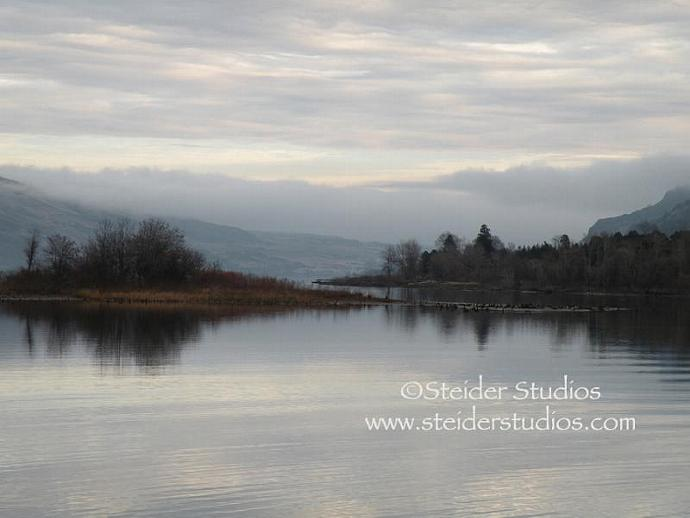 Rowena State Park on the Columbia River, Original Landscape Photograph, Blank