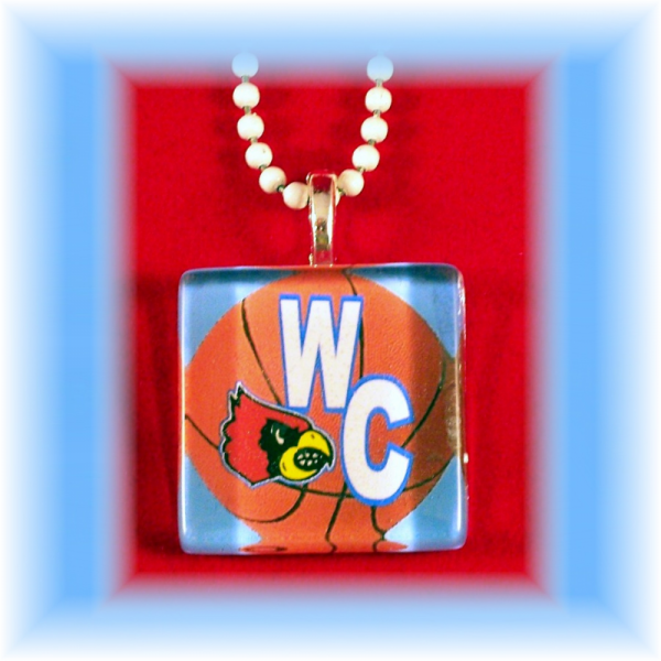 Glass Tile Pendant Webb City Cardinals BASKETBALL FREE SHIPPING