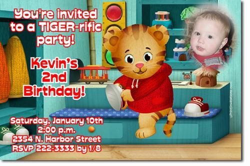 Daniel Tiger Birthday Invitations **Download JPG Immediately**