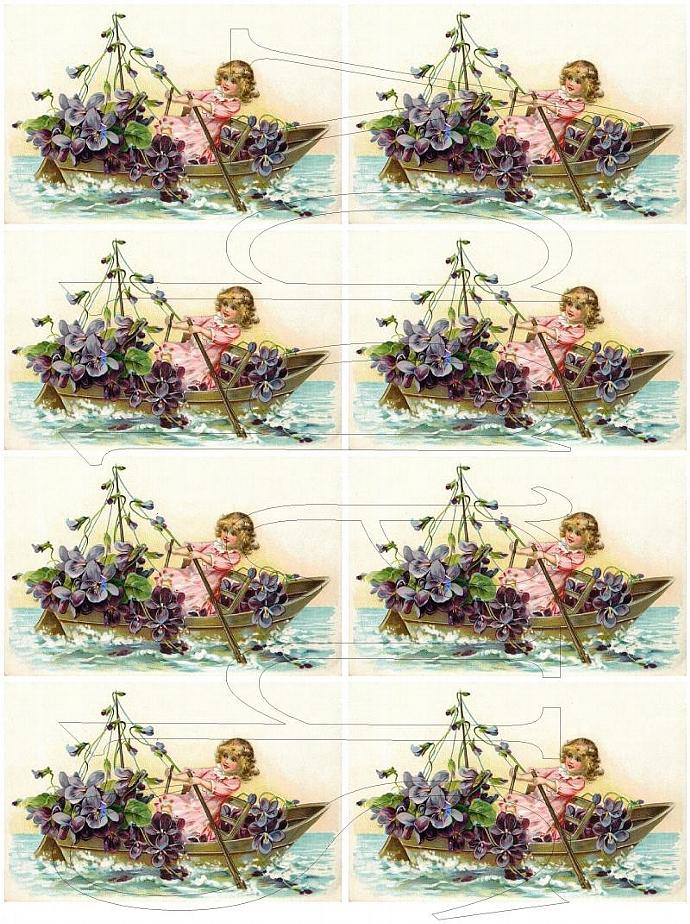 Shabby Chic digital collage sheet for scrapbook and cards  DC485