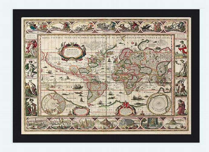 Old World Map Antique Atlas1640