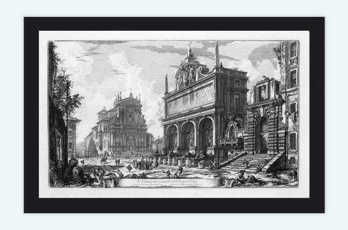 Giovanni Battista Piranesi Ruins Rome Engraving  1800
