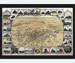 Oldcityprints OLD MAPS AND POSTER PRINTS REPRODUCTIONS - Old map reproductions
