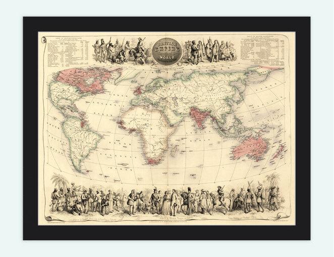 Old World Map Antique Atlas 1850
