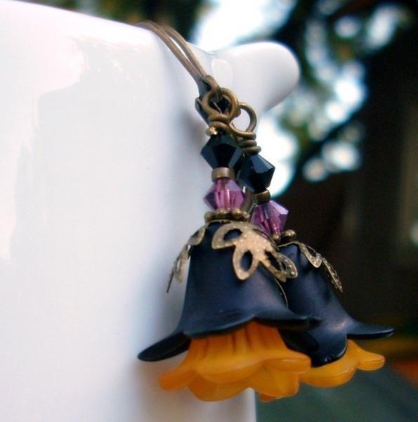 Spooky Blooms - Halloween Flower Earrings