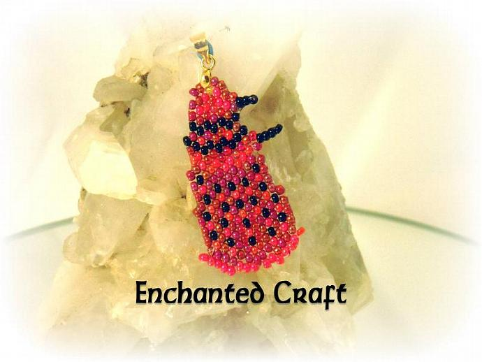 red DALEK PENDANT for the Doctor Who fan