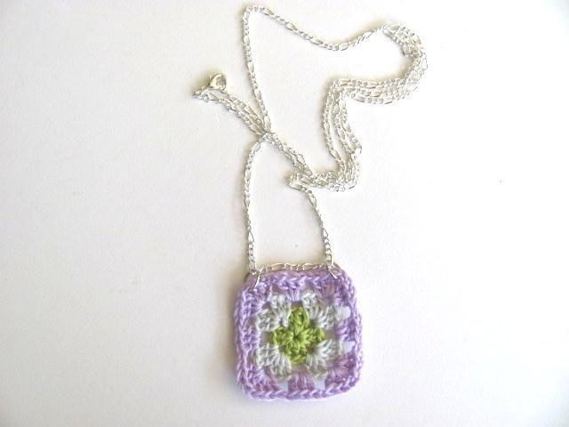 Granny Square Necklace FREE US Shipping