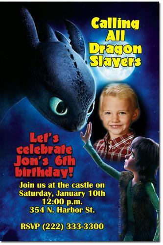 How to Train Your Dragon Birthday Invitations **DOWNLOAD JPG IMMEDIATELY**