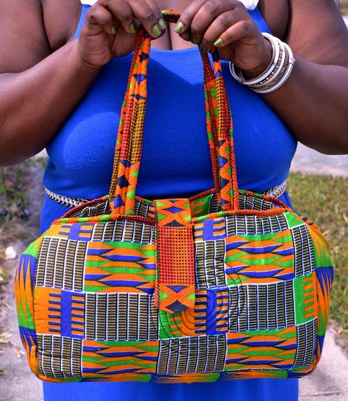 a5c1163bf833 African Print Fabric Handbag