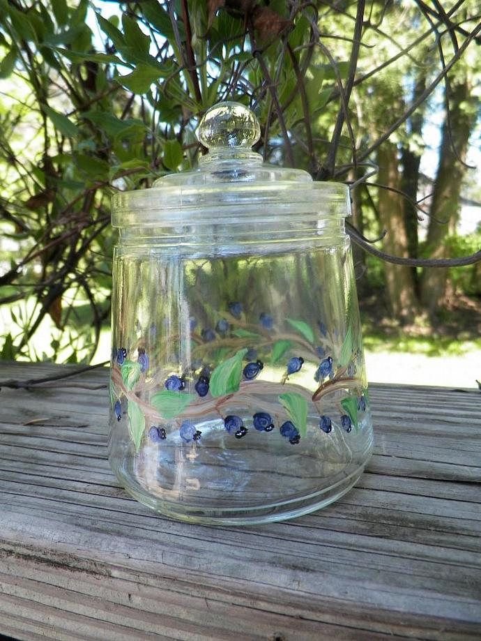 Blueberry Jar with Top