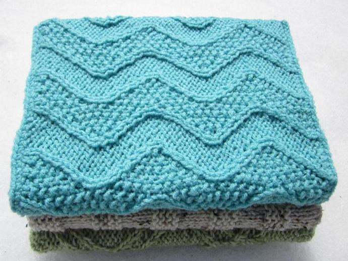 Blue Handknit Bookcover with Jumbo Journal