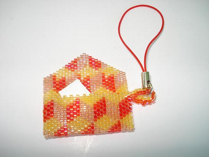 Bead Mini Clutch Pendant - Dimensional Cube