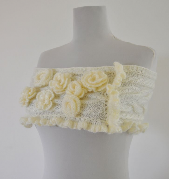 Ivory Secret Garden Mohair Capelet - Bridal Shrug