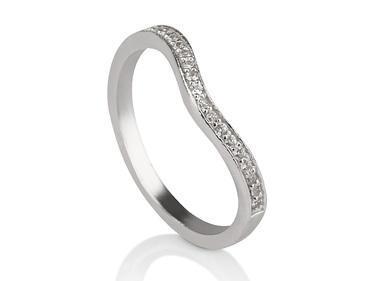V 14k White Gold Engagement Ring - Liat Waldman