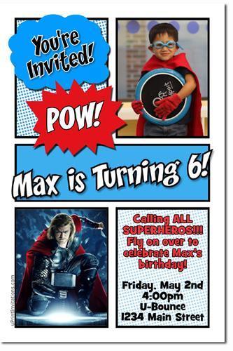 Thor Birthday Invitations **DOWNLOAD JPG IMMEDIATELY**