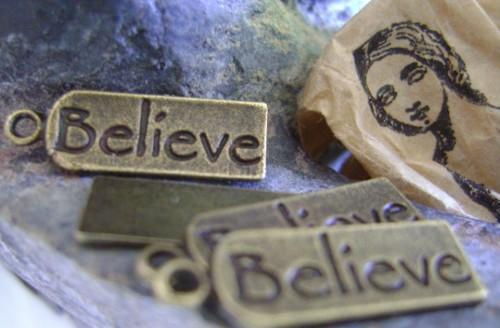 Believe Word Embellishment Charm