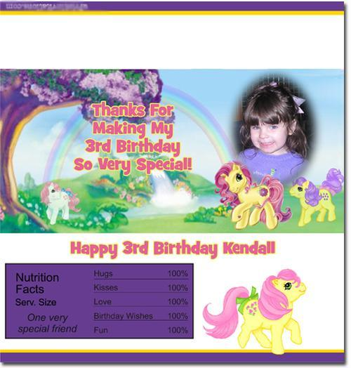 My Little Pony Candy Bar Wrappers **DOWNLOAD JPG IMMEDIATELY**