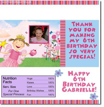 Pinkalicious Candy Bar Wrappers **DOWNLOAD JPG IMMEDIATELY**