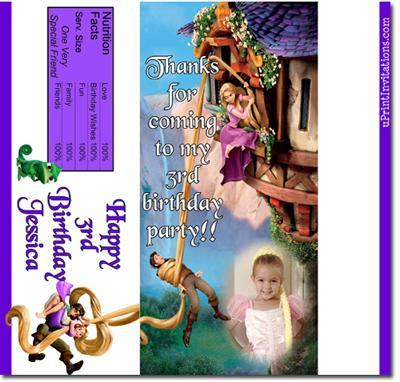 Tangled Candy Bar Wrappers **DOWNLOAD JPG IMMEDIATELY**