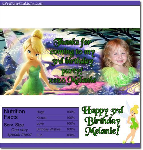 Tinkerbell Candy Bar Wrappers **DOWNLOAD JPG IMMEDIATELY**