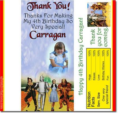 Wizard Of Oz Candy Bar Wrappers **DOWNLOAD JPG IMMEDIATELY**