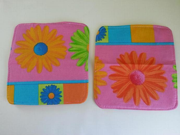 Gerber Daisy Fabric Checkbook Cover Set