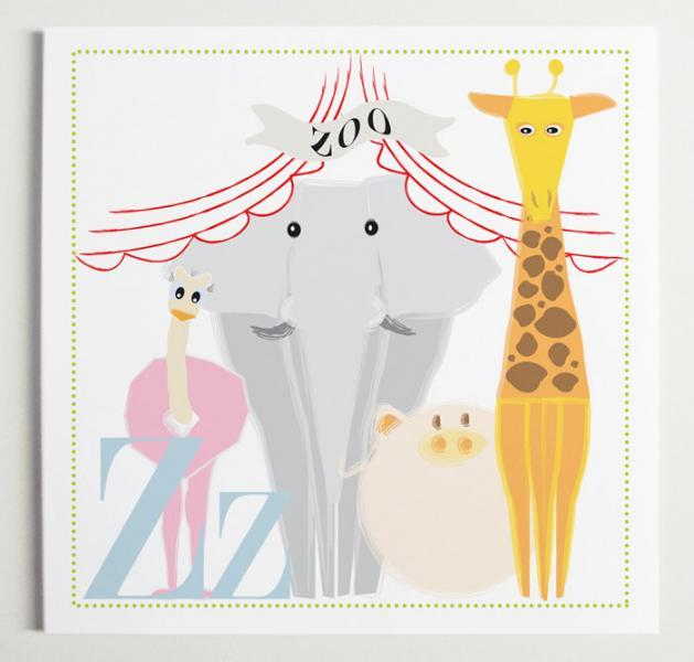 Zz is for Zoo Alphabet Print