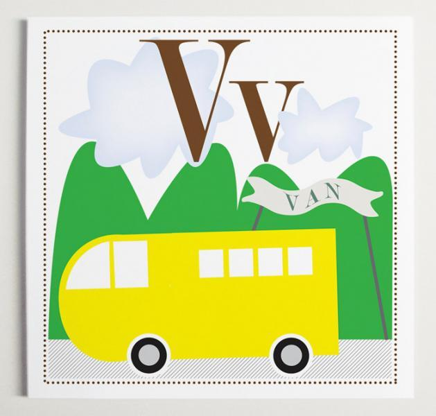 Vv is for Van Alphabet Print