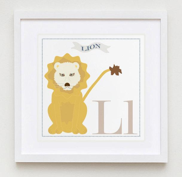 Ll is for Lion Alphabet Print
