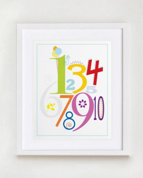 Number Nursery Wall Art Print