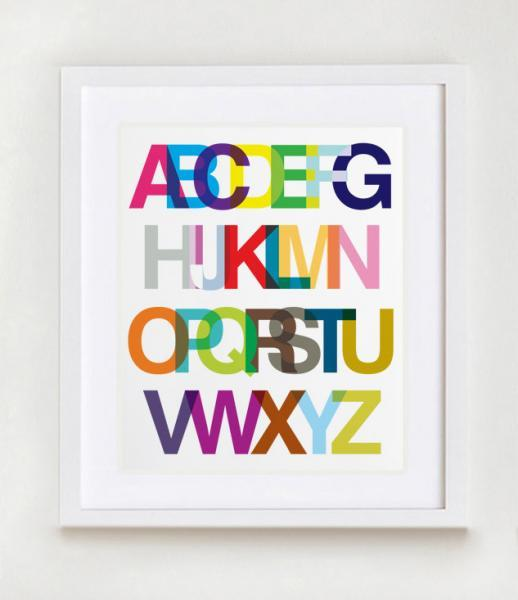 An Alphabetic Ode to Helvetica Wall Art