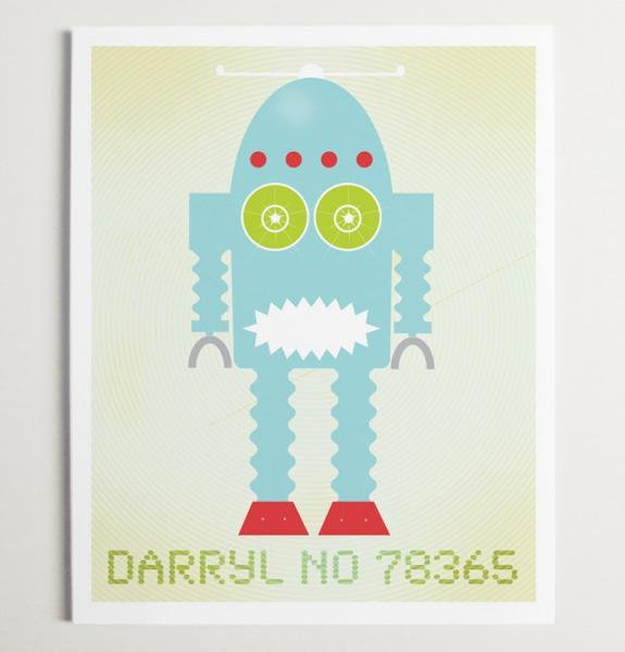 Darryl No 78365 Robot Wall Art