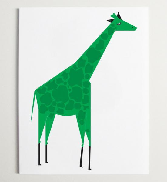 The Giraffe Wall art Print