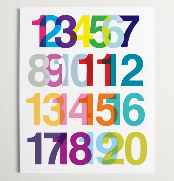 A Numerical Ode to Helvetica Wall Art