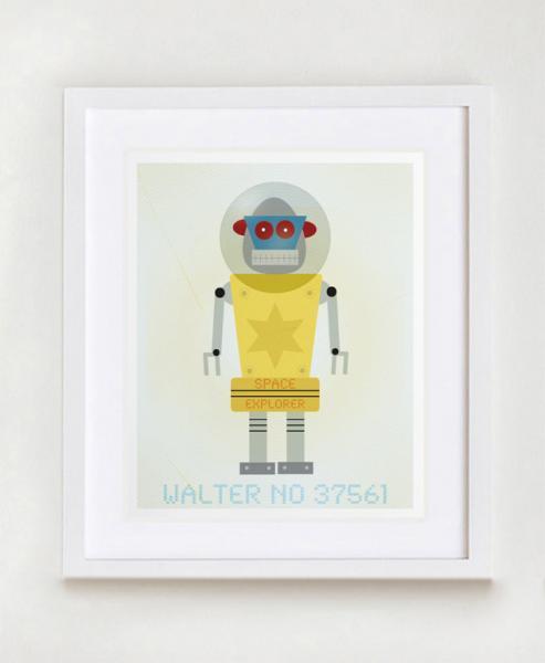 Walter No. 37561 Robot Wall Art