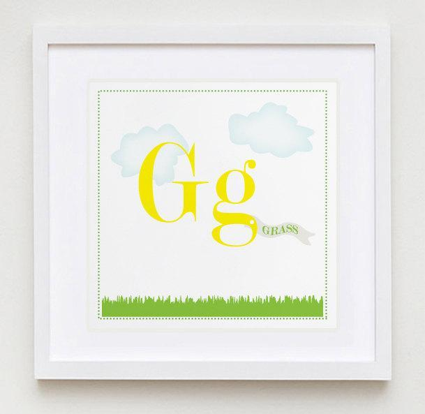 Gg is for Grass Alphabet Print