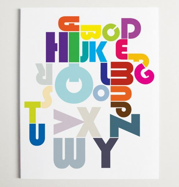 Alphabet Pipeline Nursery Wall Art Print
