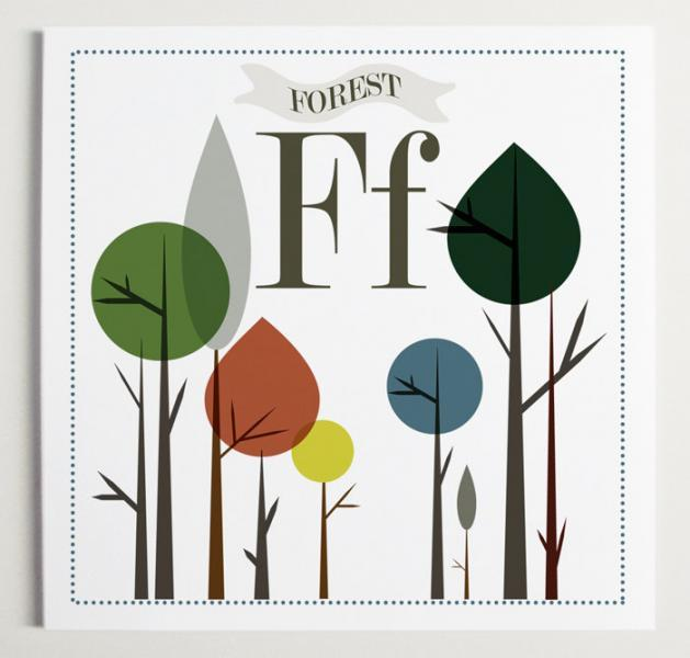 Ff is for Forest Alphabet Print