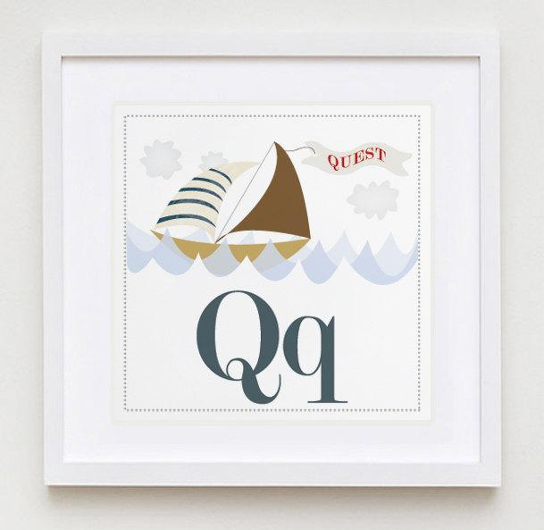 Qq is for Quest Alphabet Print