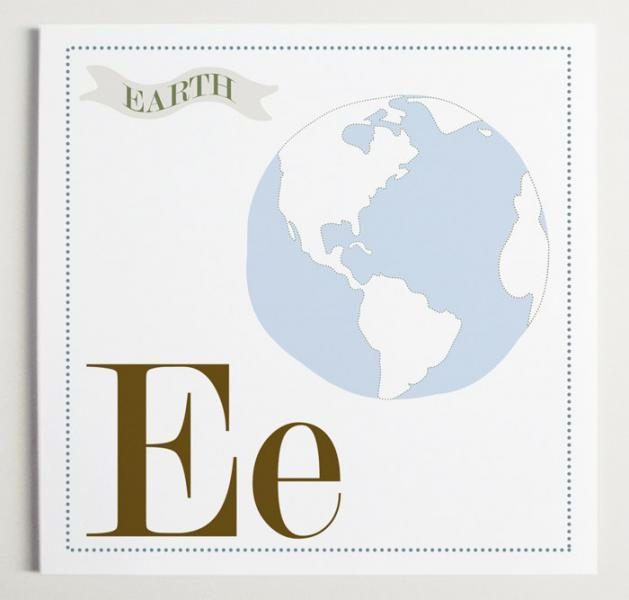 Ee is for Earth Alphabet Print