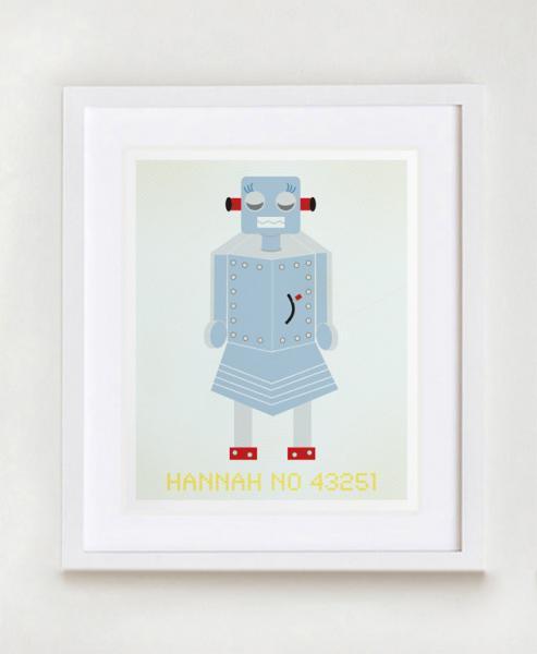 Hannah No 43251 Robot Wall Art