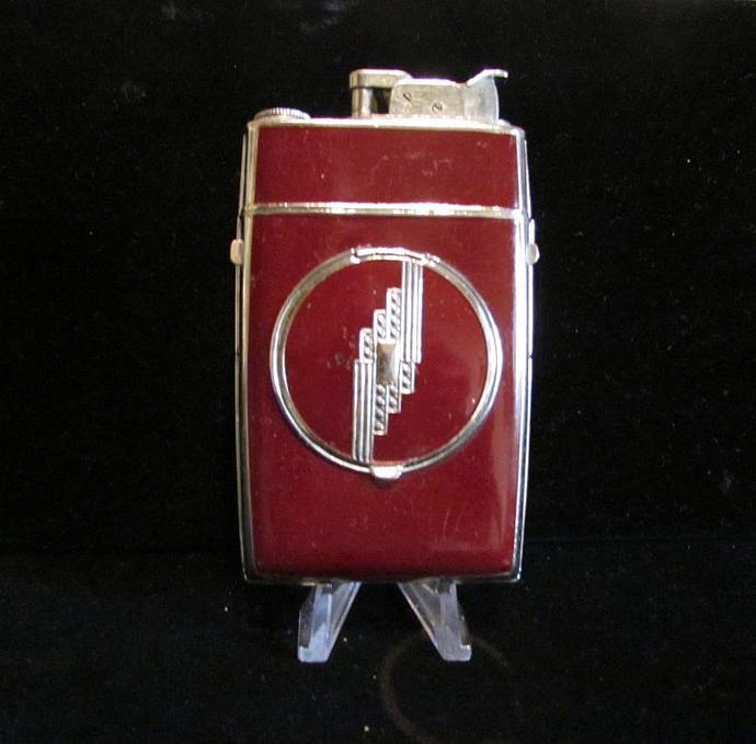 Vintage Evans Compact Case Lighter Powder Compact Art Deco Cigarette Case