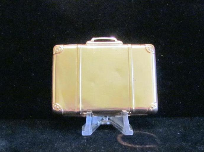Vintage Suitcase Compact Powder Compact Rouge Compact Mirror Compact Novelty