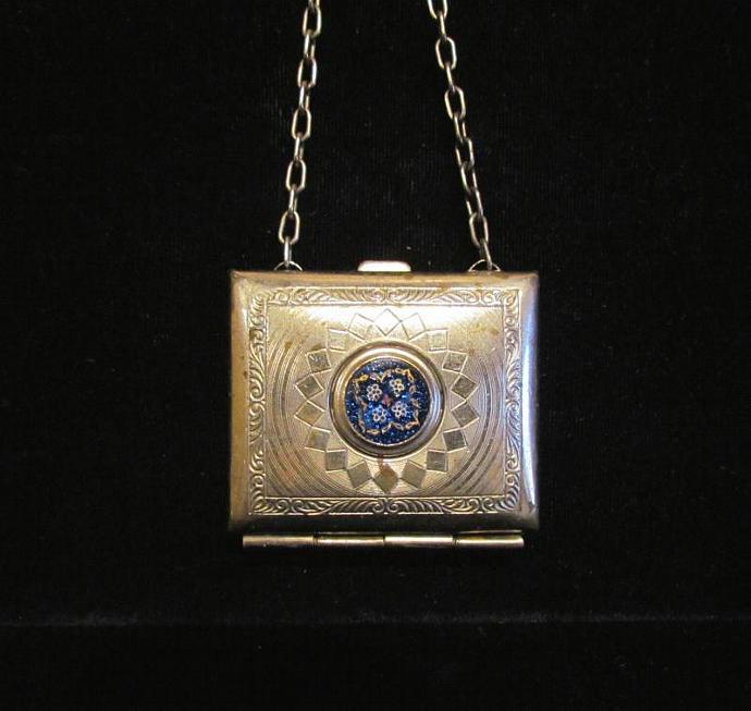 Antique Change Purse 1900s Silver Dance Purse Vintage Coin Purse Compact Purse