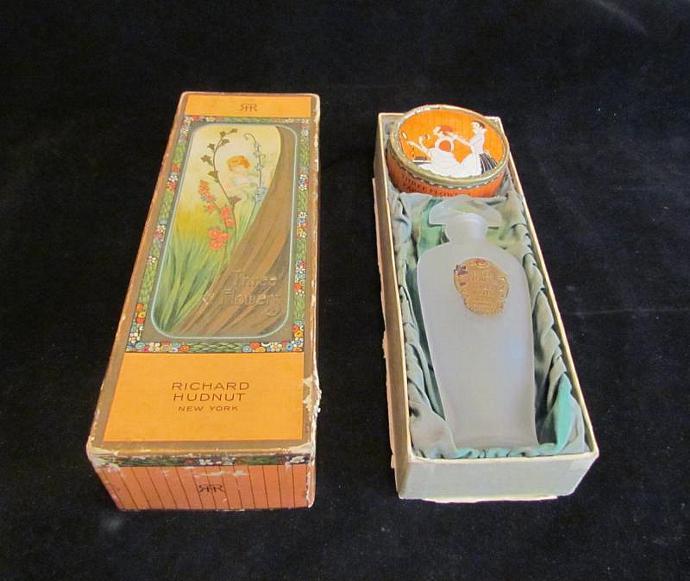 1920s Richard Hudnut Perfume & Powder Box Perfume Bottle Vintage Perfume Box