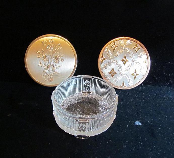 1940s Art Deco Powder Jar Glass Powder Jar Powder Box