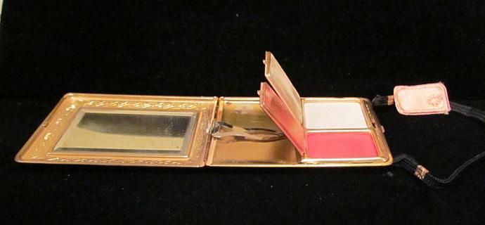 Vintage Mondaine Compact Purse 1930s Dance Purse Wristlet Art Deco Compact