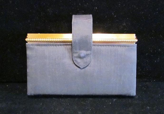 1950s Volupte Portmanteau Purse Powder Mirror Compact Purse Cigarette Case