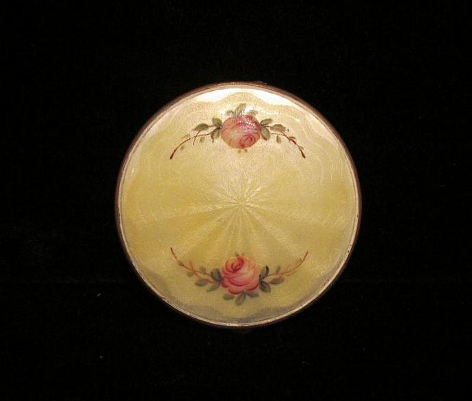 1930s Foster Guilloche Compact Powder Compact Rouge Compact Mirror Compact